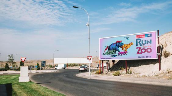 Run for Zoo Billboard Mockup