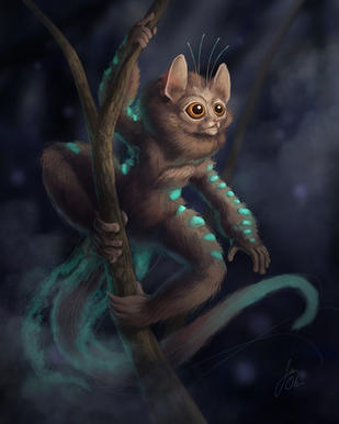 Bio-luminescent Lemur