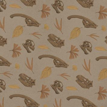 Dinosaur Skull Pattern Color 2