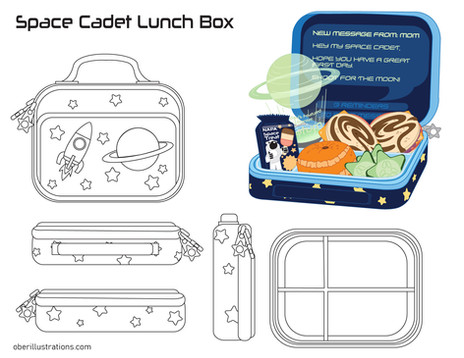 Space Cadet Lunch Box