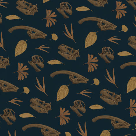 Dinosaur Skull Pattern Color 1