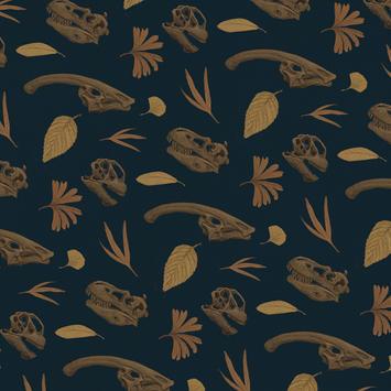 Dinosaur Skull Pattern Color 1