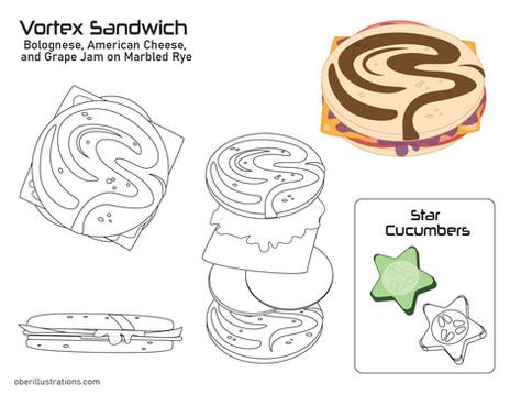 Space Cadet Lunch Box-Sandwich