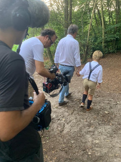 Filming for documentary