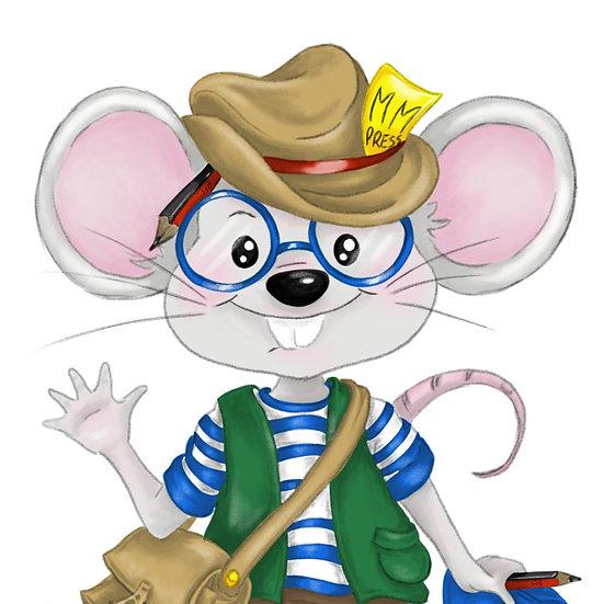 Matthew Mouse Bible Letter Subscription - Single letter