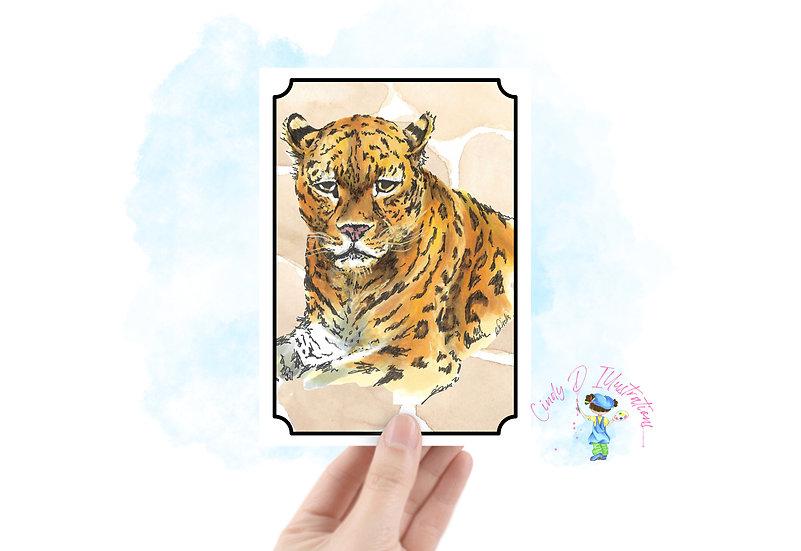 Leopard Blank Greeting Card