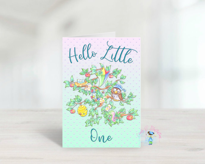 Welcome Little One ... Blank Greeting Card
