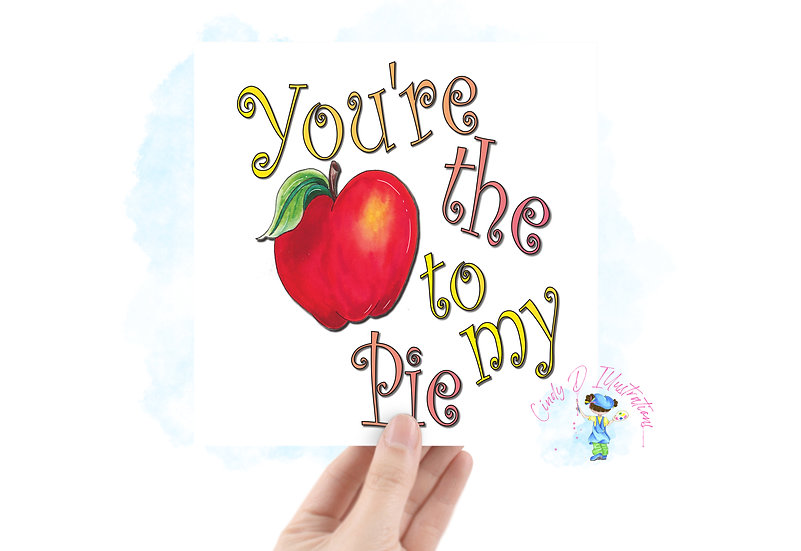 You're the Apple   -  Square Blank Greeting Card