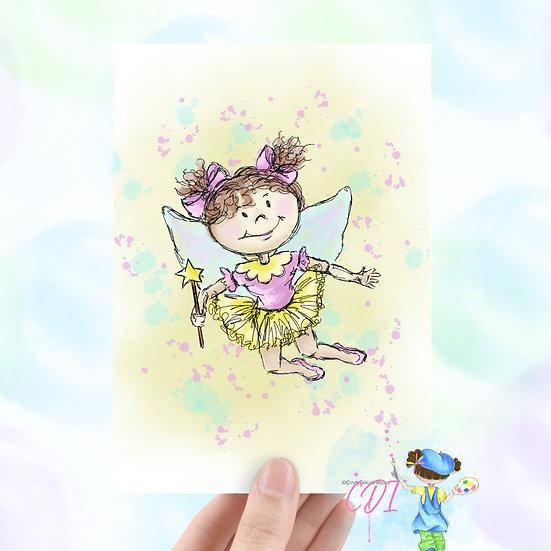 Twinkle Toes Blank Greeting Card