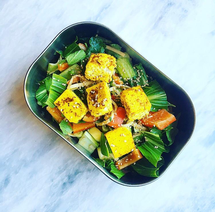 Vegan tofu paid thai lunchbox recipe