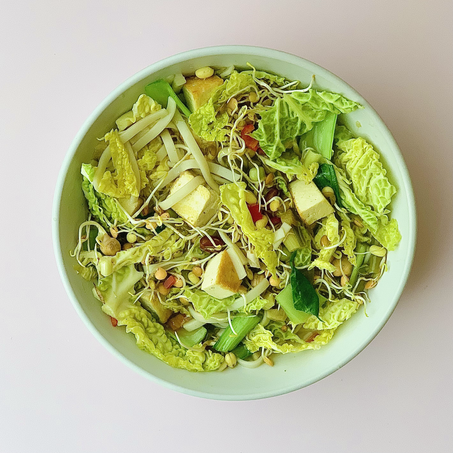 healthy wfh lunch recipe: asian noodle soup
