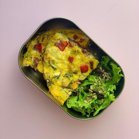 healthy work lunch recipe: feta & dill frittata
