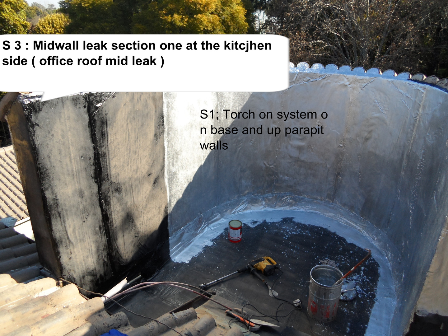 torrent torch on waterproofing during