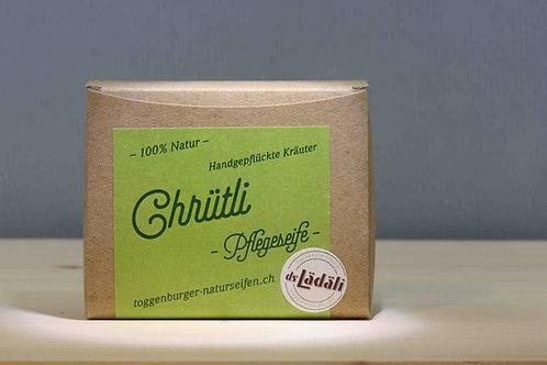 Toggenburger Chrütli - Pflegeseife m. handgepflückten Kräutern, 100 gr.