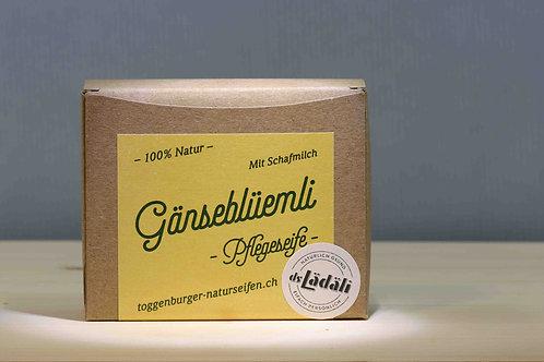 Toggenburger Gänseblüemli- Pflegeseife mit Schafmilch, 100 gr.