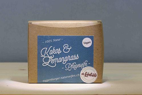 Toggenburger Kokos & Lemongrass - Pflegeseife Vegan, 100 gr.