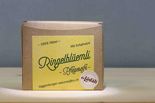 Toggenburger Ringelblüemli - Pflegeseife mit Schafmilch, 100 gr.