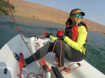 Sailing a Laser Dinghy