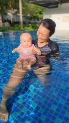 Swimming with a 4 Month Old Baby