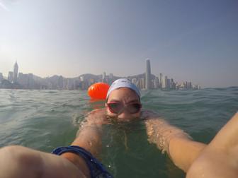Swimming at Hong Kong's New World Harbour Race
