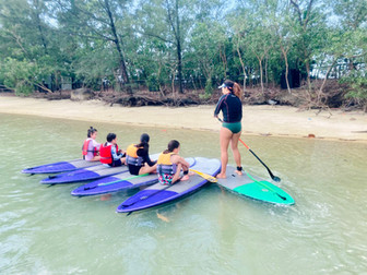 SUP Lesson with Kidsat Sentosa