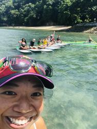 SUP Group Tour Along Sentosa's Coastline