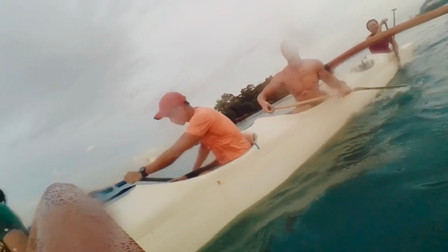 Steering an Outrigger Canoe