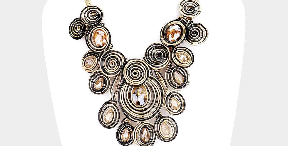 wire bib necklace