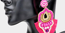 pink Indian style earring