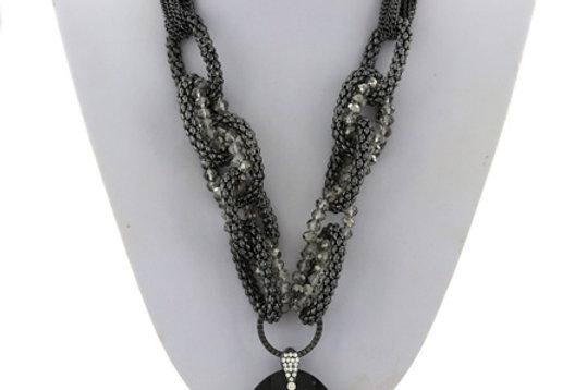 black diamond necklace