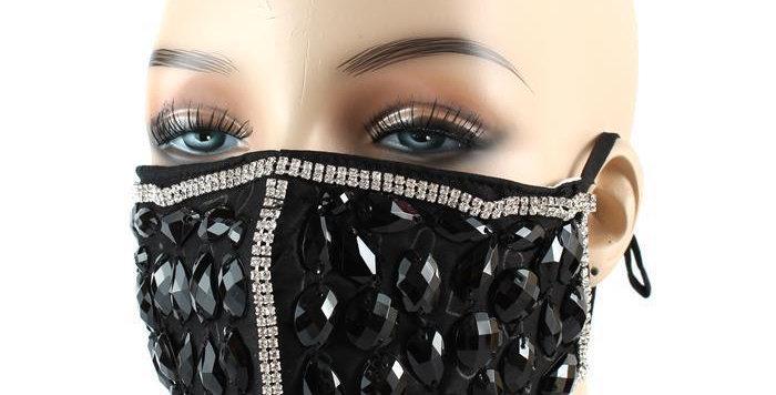 Black diamond face mask