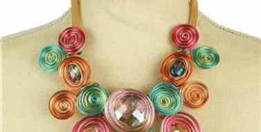 Rainbow wire necklace