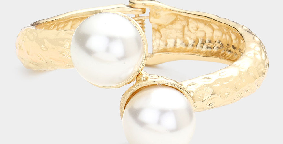 pearl and gold bangle