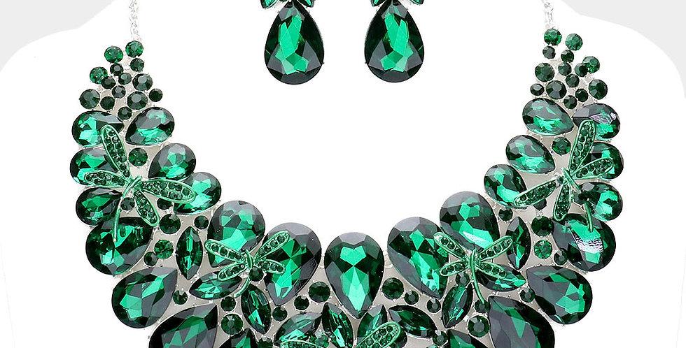 Green Gem Necklace Set