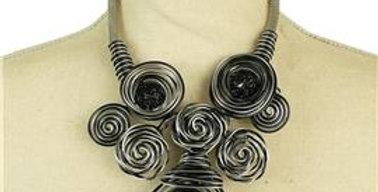 black wire neckace set
