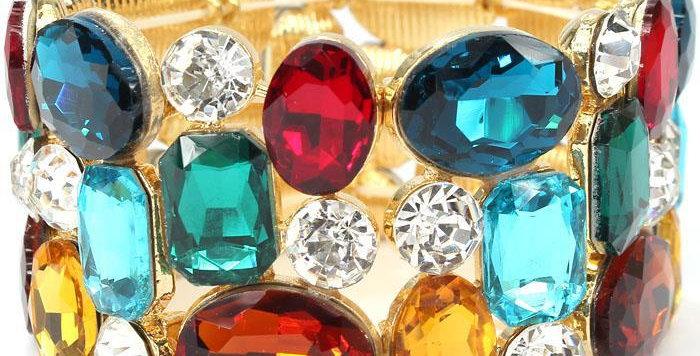 muliti color gem bracelet