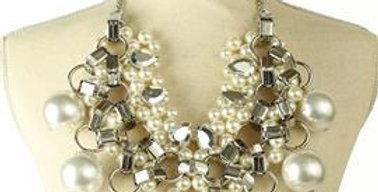 Big pearl necklace set