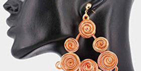 orange wire earrings