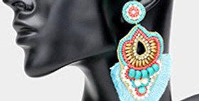 Turquoise Indian earrings