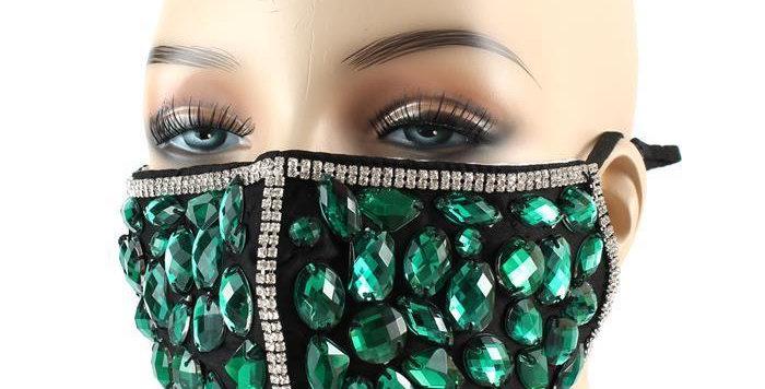 Green Diamond Face Mask