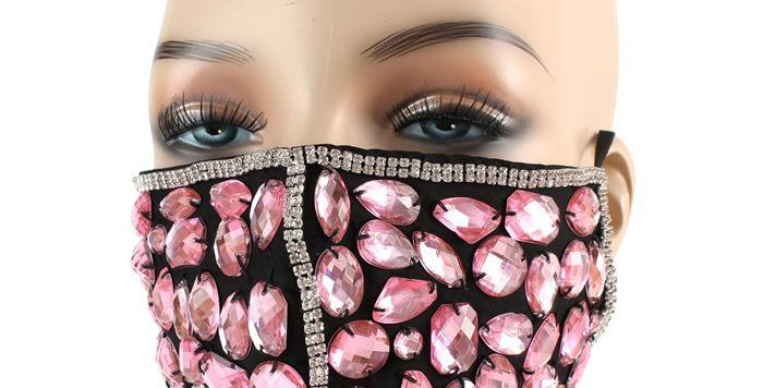Pink Diamond face mask