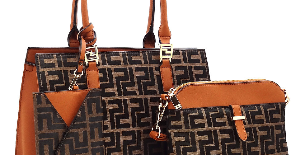 Carmel and Brown 3 piece set