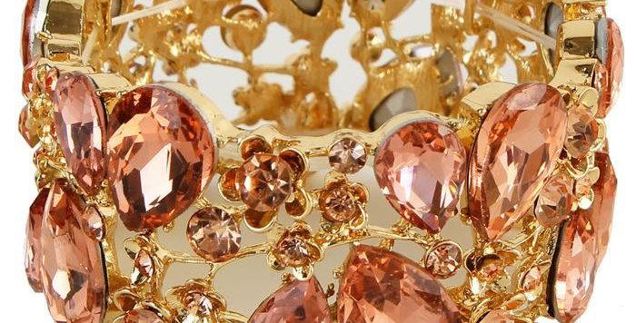 rose gold gem bracelet