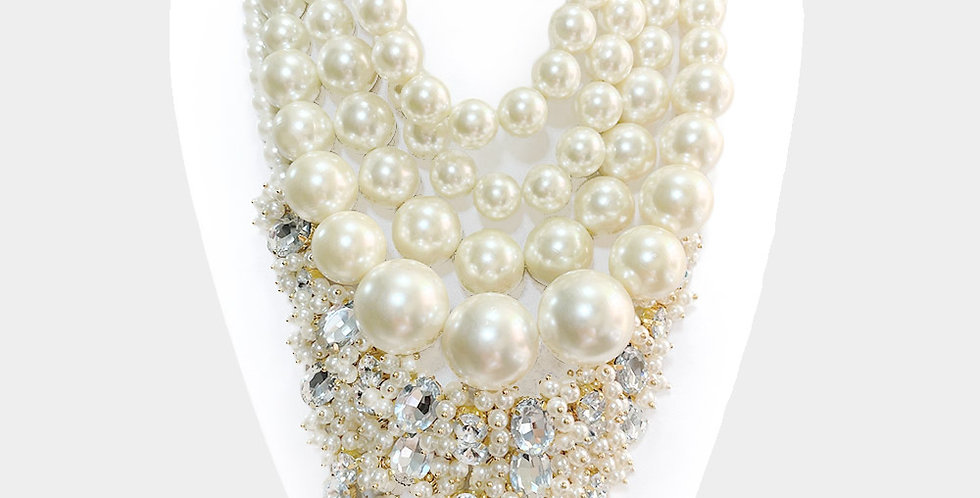 Pearl Diamond Chuck Necklace