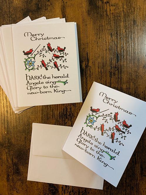 Small Christmas Card Pack - Hark!