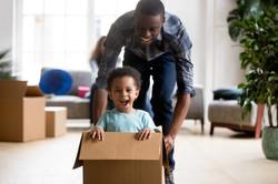 1-black kid in box