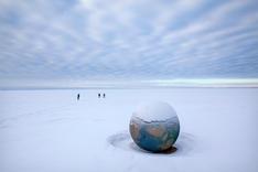 St. Petersburg   Globe Sculpture
