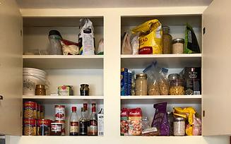 1950's Kitchen Cabinet Before Organizati