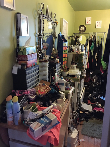 Cluttered Jewellery & Makeup