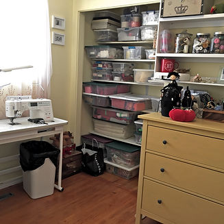 M Sewing Closet After with sewing machin
